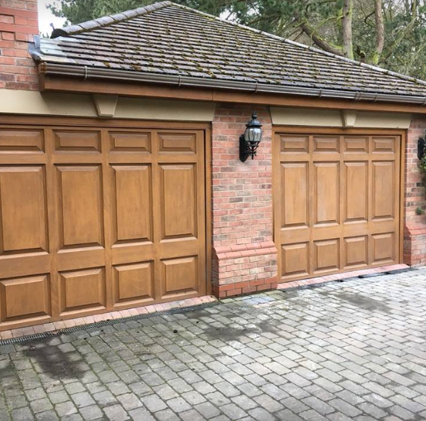 uPVC Garage Doors Before Spraying