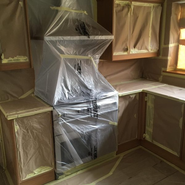 Kitchen Spraying Preparation